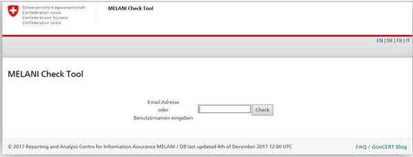 Bild Website Melani Checktool